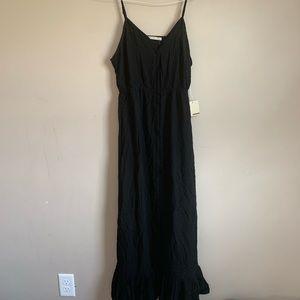 NWT Active USA Black Maxi Dress size large ruffle
